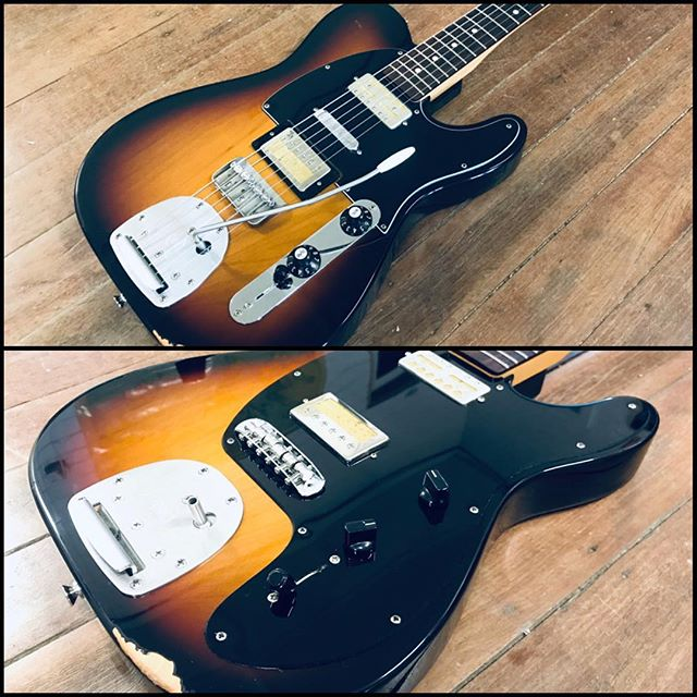 Had a lot of fun giving this Baritone Tele a little makeover. Custom scratchplate and bridge conversion. Looking purdy! T•Repairs #tguitars #guitarrepairs #guitarsetups #handmade #electricguitars #madeinbowral #highlandshandmade  #australianmade #australia #bowral #southernhighlands #nsw #2076 #heystewmac #guitars #guitarist #tone #guitarbuilder #luthier #guitarmaker #thetguitarco #fender #gibson #tonenerds #workshop #baritontelecaster #telecaster #baritone #customscratchplate