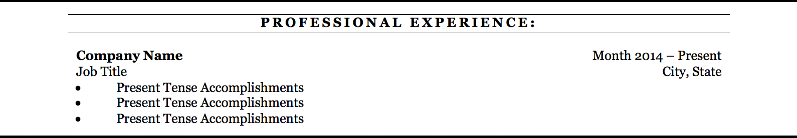 Don't : Align your bullet points with the text above. It leaves your resume with a lot of wasted space