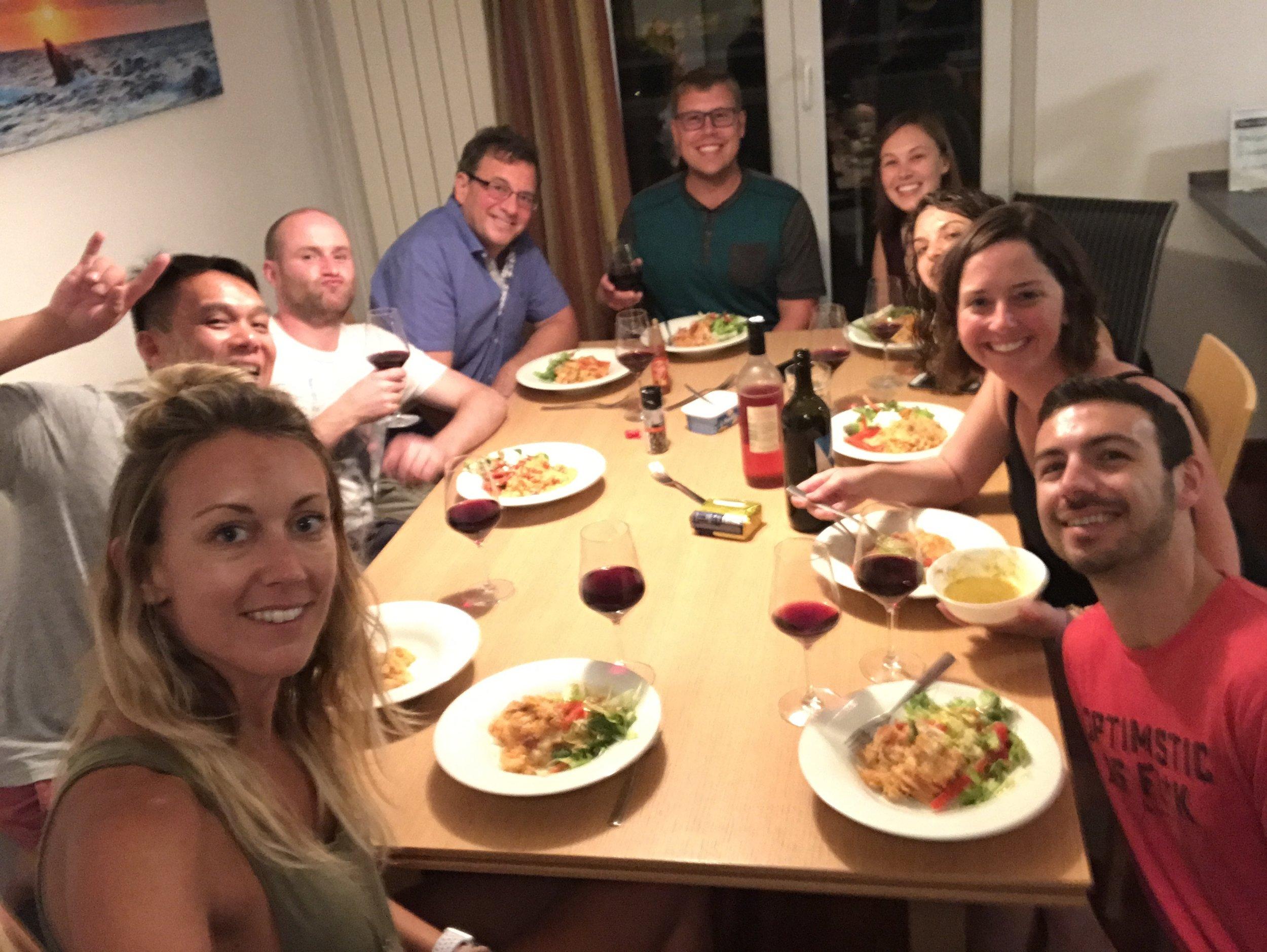 Night 4 Family Dinner!