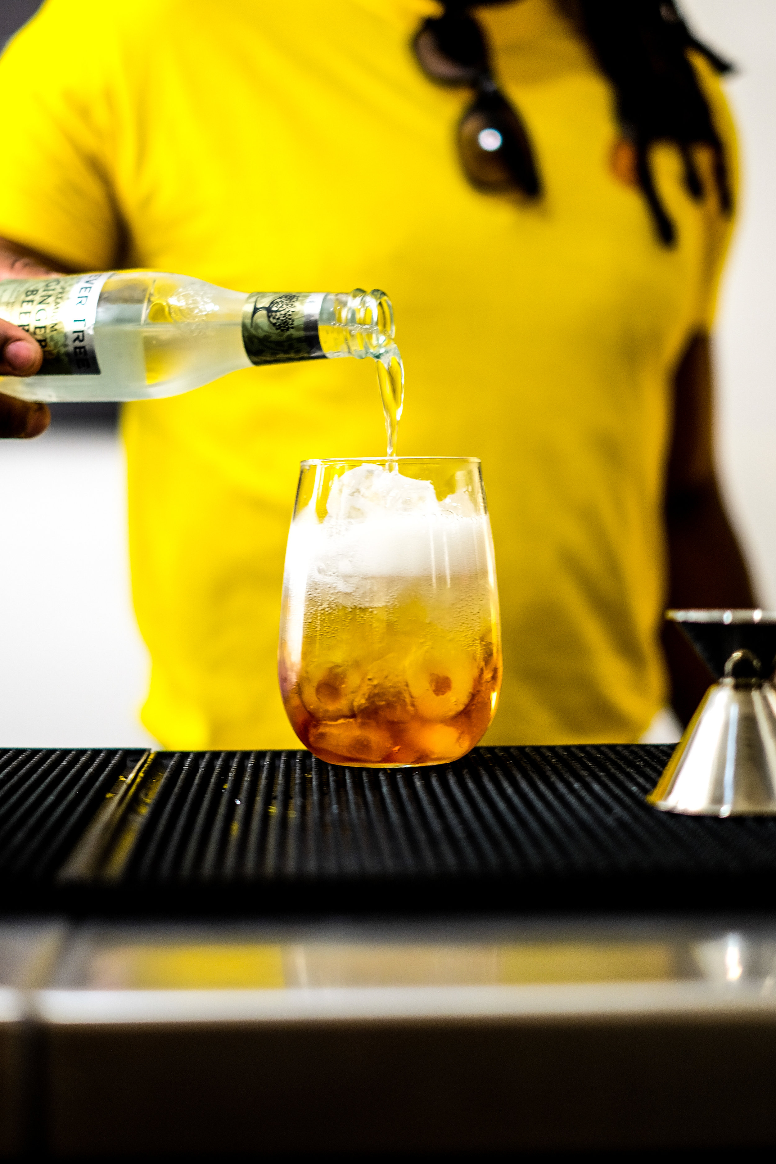 3. Top up with chilled ginger beer