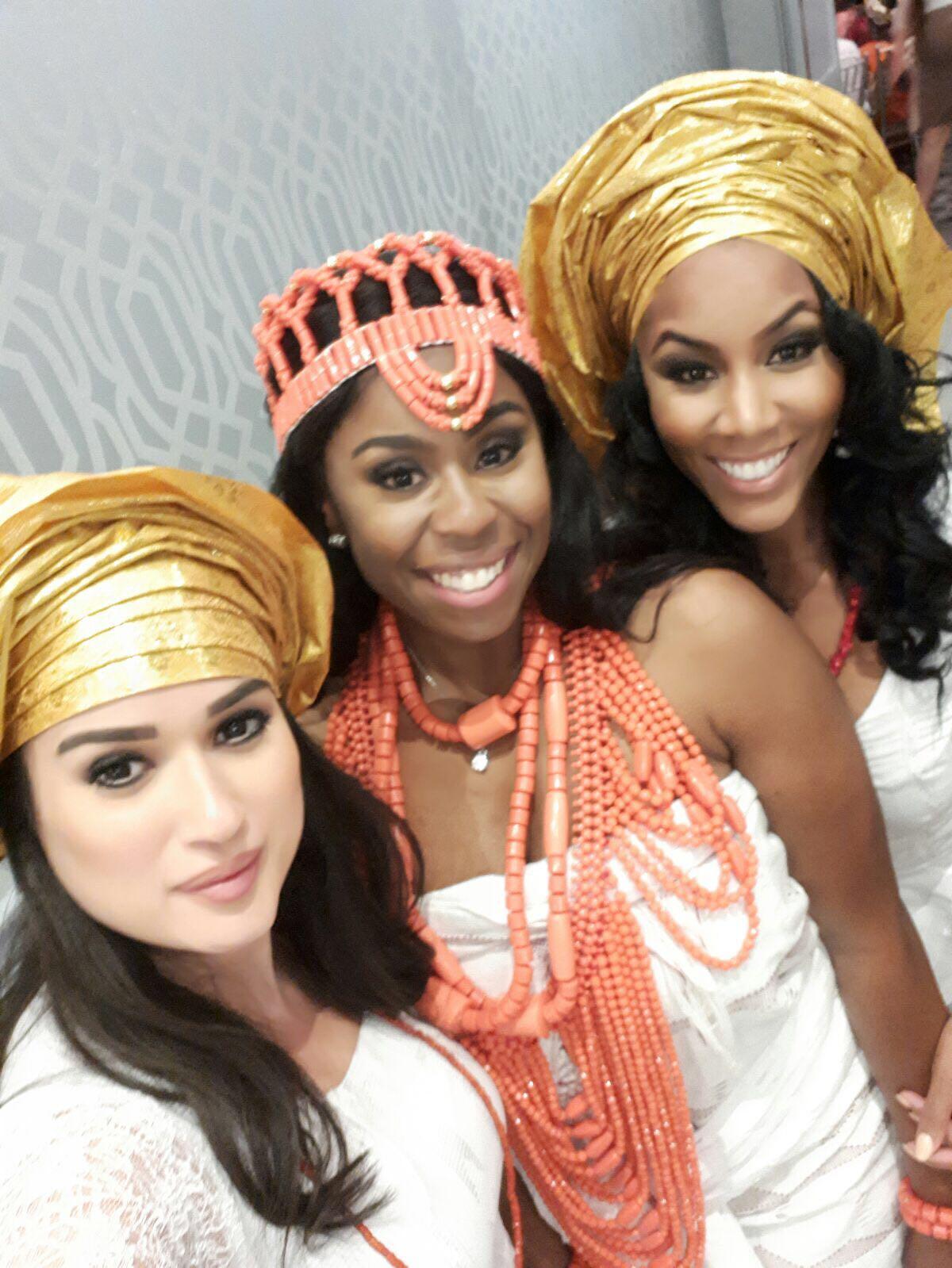 Attending my besties wedding back home, in traditional Nigerian attire :)