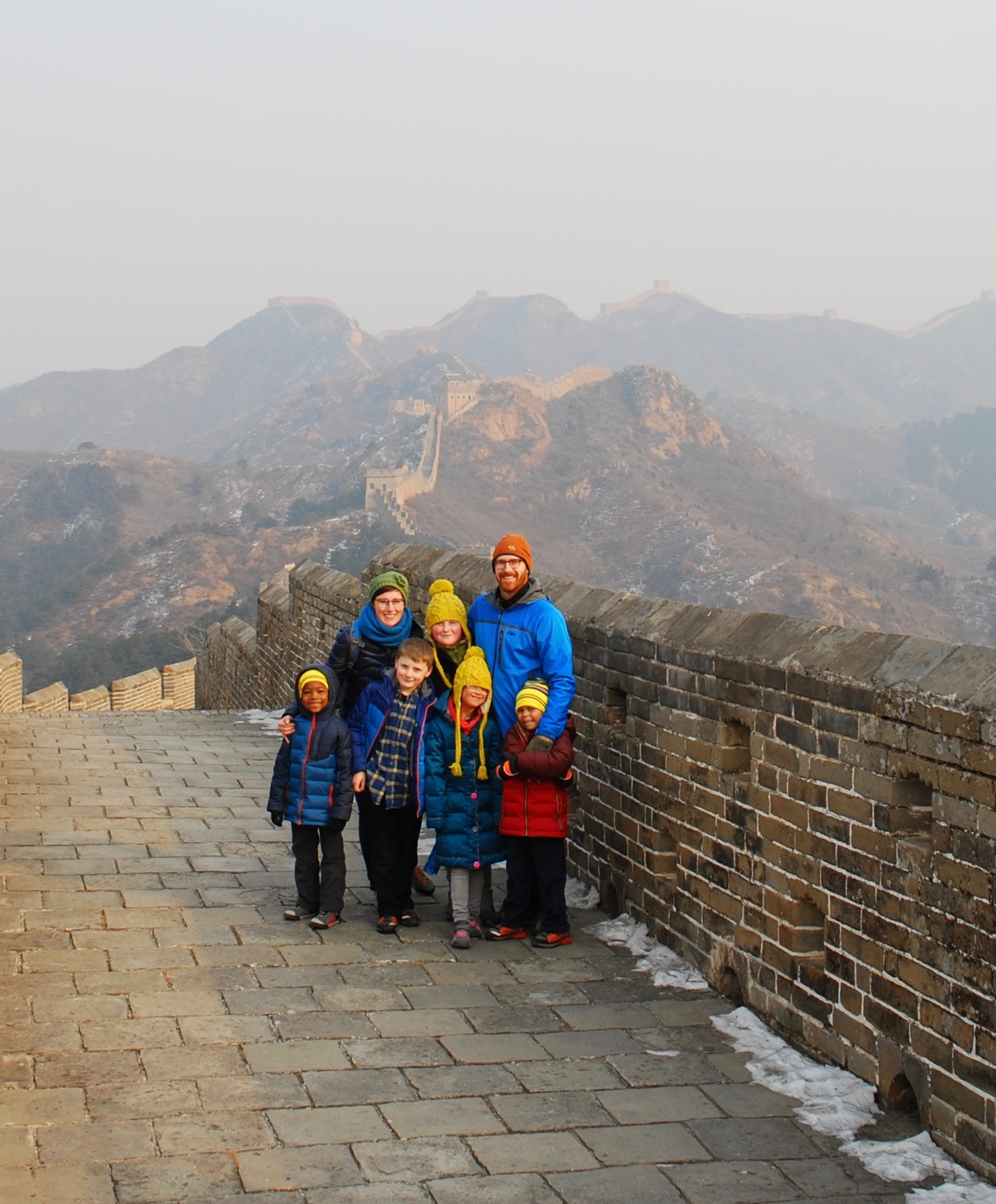 Andie and her family at The Great Wall of China!