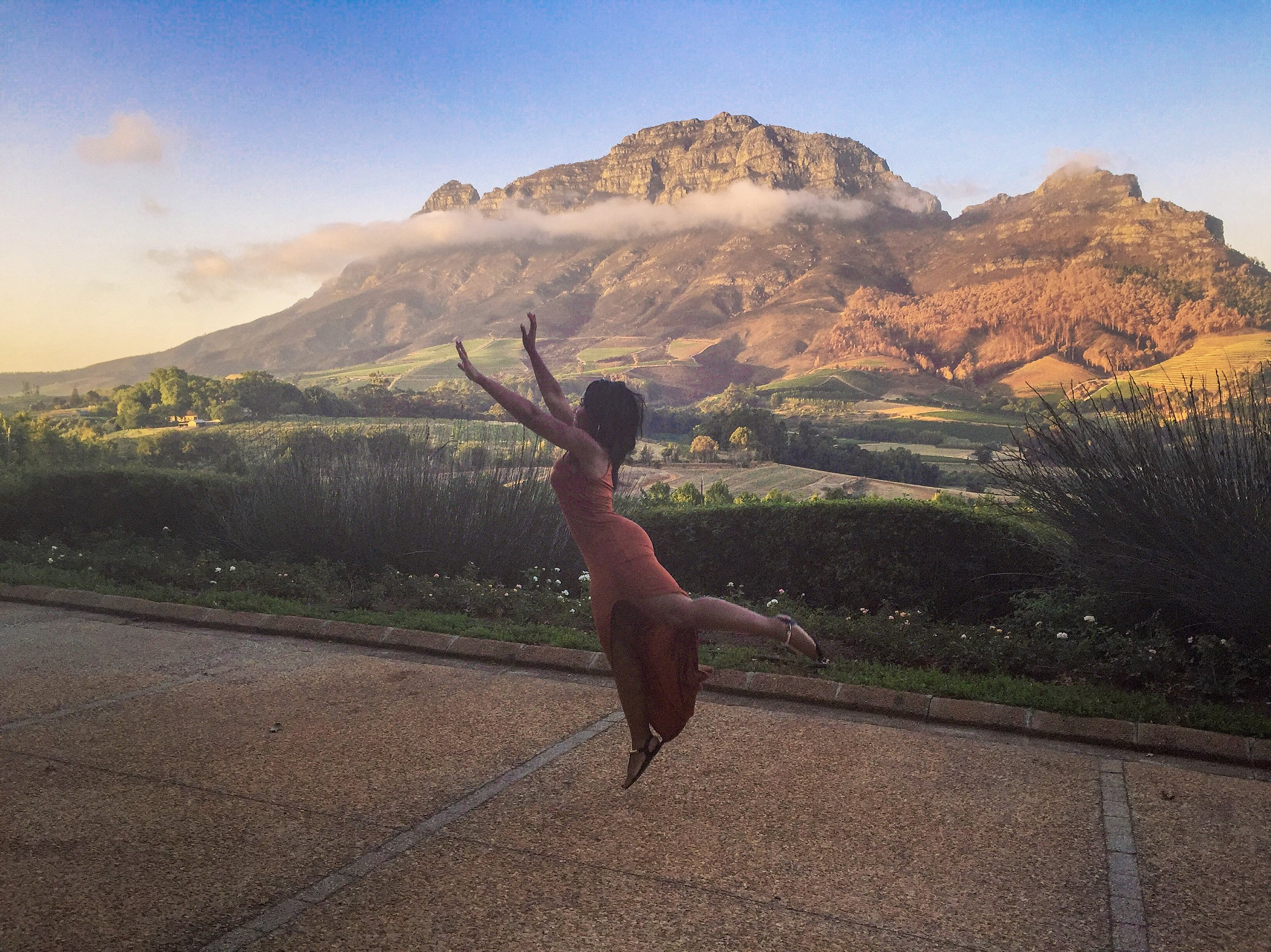 Reaching for the clouds in Stellenbosch, South Africa