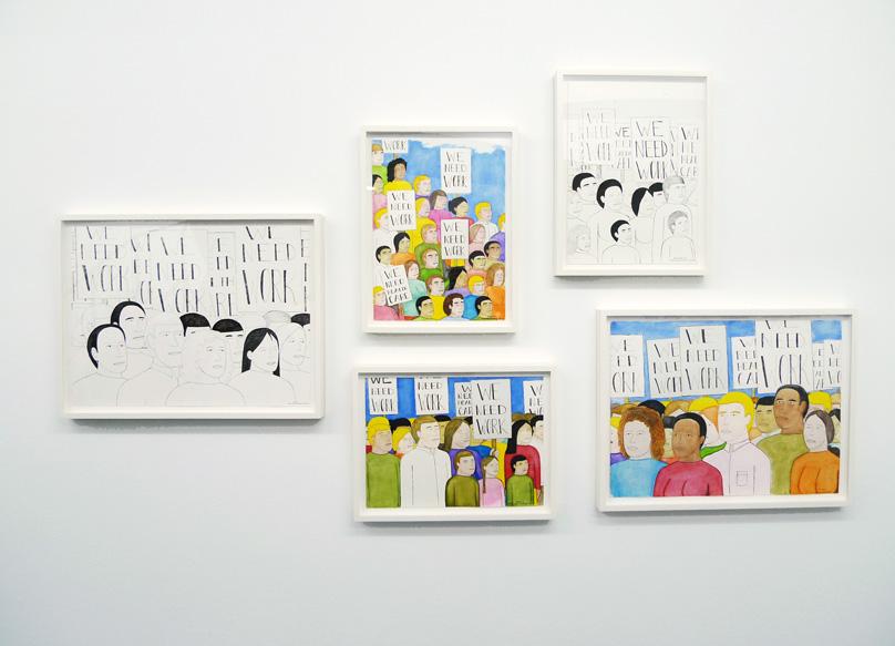 Michael Patterson-Carver Exhibition view