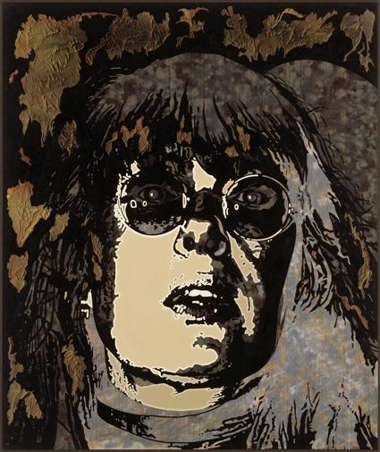 Slagskottsunionen, 1998, mixed media on canvas, 150 x 125 cm, unique.