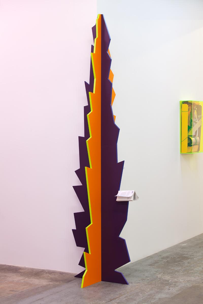 Delphine Coindet,  Flamme 2,  2017 Medium et acrylique  270 x 70 x 70 cm Unique  Courtesy Galerie Laurent Godin, Paris, 2017 (c) Yann Bohac