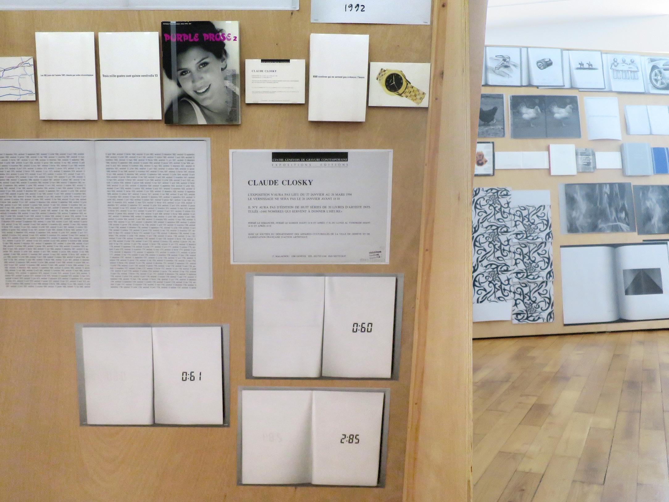 Claude Closky, 'ILUO,' Centre des livres d'artistes (CDLA), Saint-Yrieix-la-Perche. 23 June - 16 September 2017. Curated by Christian Lebrat, Didier Mathieu. Salle 1, salle 2.jpg