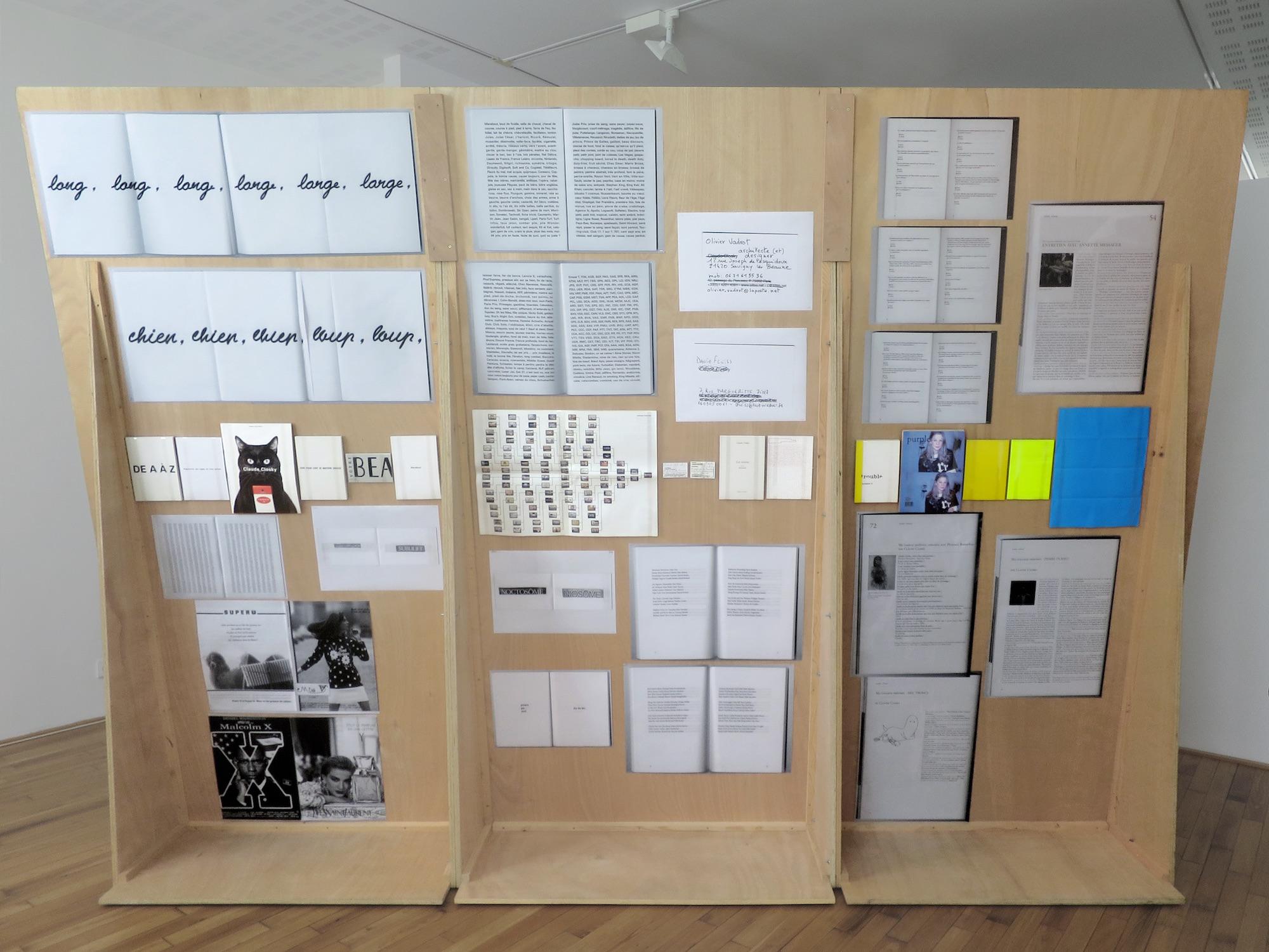 Claude Closky, 'ILUO,' Centre des livres d'artistes (CDLA), Saint-Yrieix-la-Perche. 23 June - 16 September 2017. Curated by Christian Lebrat, Didier Mathieu. Salle 2 entrée.jpg