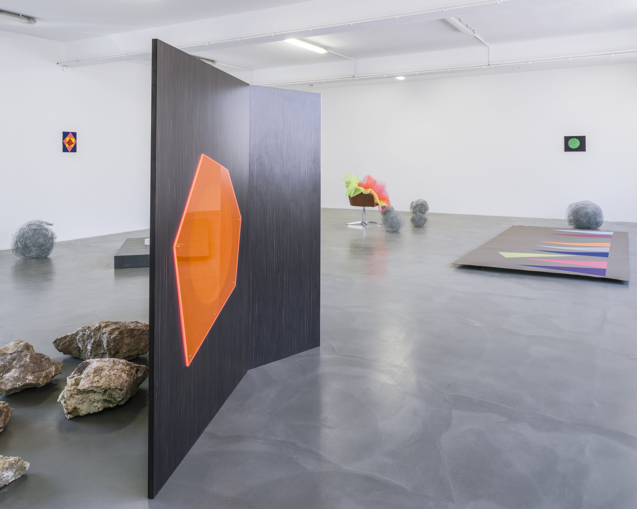 Vue d'exposition : Delphine Coindet,  Ventile , 2018 © Le Portique centre régional d'art contemporain du Havre, 2018