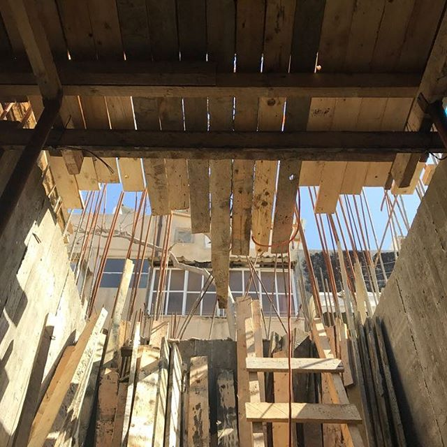 Sun & Material  #archproject #architecture #wood #underconstruction #bases . . #TelAviv #Israel #ig_israel #insta_israel #building #architecture #expression #house #construction #ceiling #window #old #home #light #wooden #travel #traveling #visiting #instatravel #instago #family #support #steel
