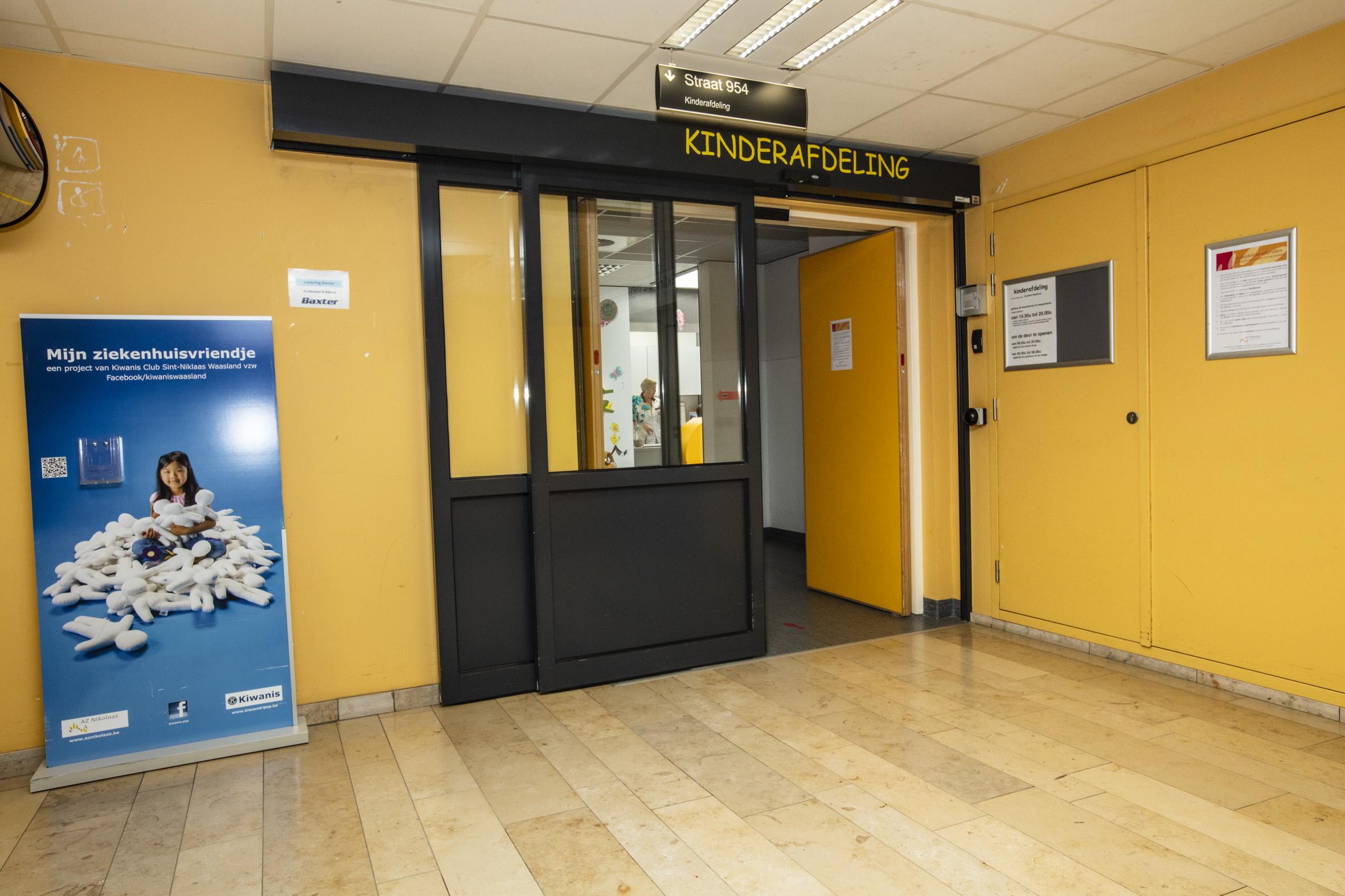 De ingang naar de kinderafdeling