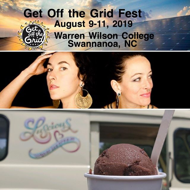 One of the places you'll find us this weekend is at the solar expo and sustainability fair @warrenwilsoncollege Get off the Grid and while you're exploring, grab some cool love in the form of our adult ice cream.  https://www.facebook.com/getoffthegridfest/  We'll be at Warren Wilson - 9a - 5p this Saturday, 8/10.
