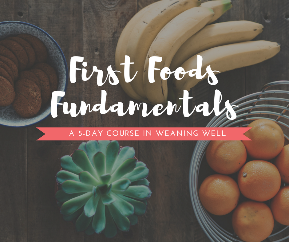 Get the FREE 5-day course and learn how to wean well - Sign up for First Foods Fundamentalsto start your baby-led weaning journey, step-by-step, with lessons delivered to your inbox!