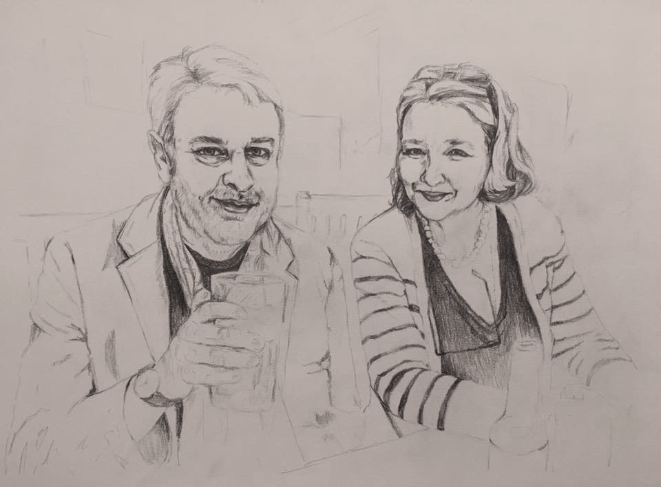 Gifts for your loved one   Commission a portrait of your favourite photograph of the two of you