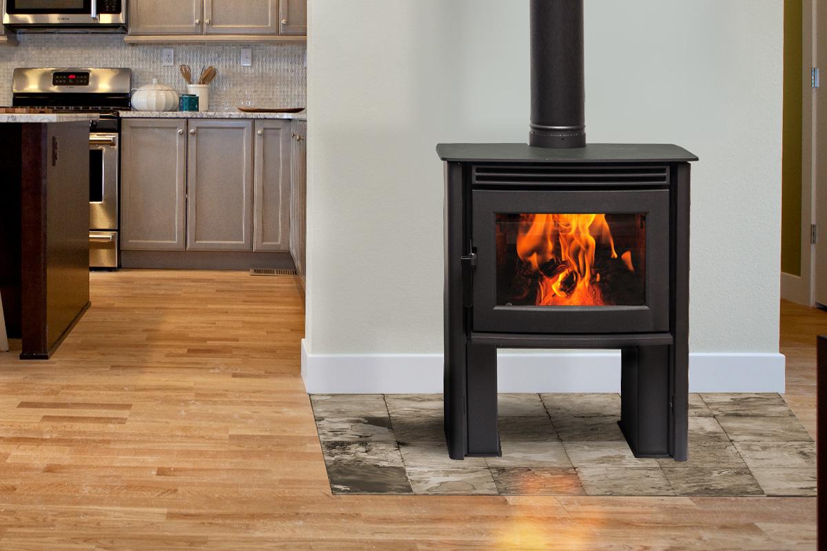 Pacific Energy Neo 1.2 - non-catalytic wood stove - 30,200 peak btu/hr