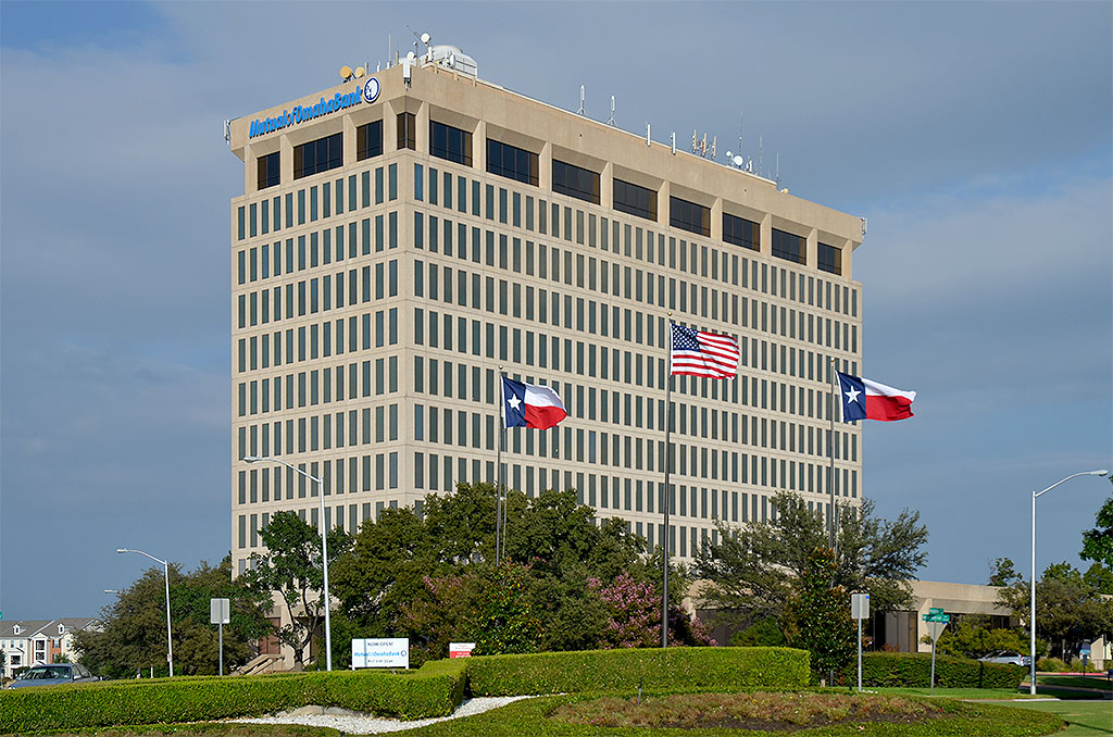 We are located in the mutual of omaha bank building in ridglea, 4th floor