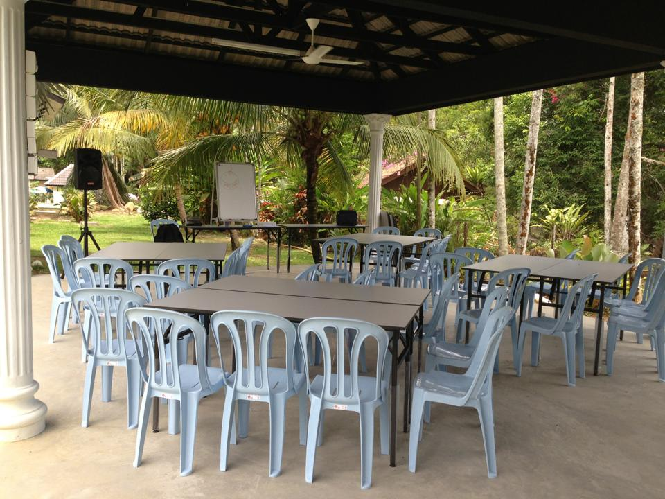 Grand Outdoor Hall for activities/dining