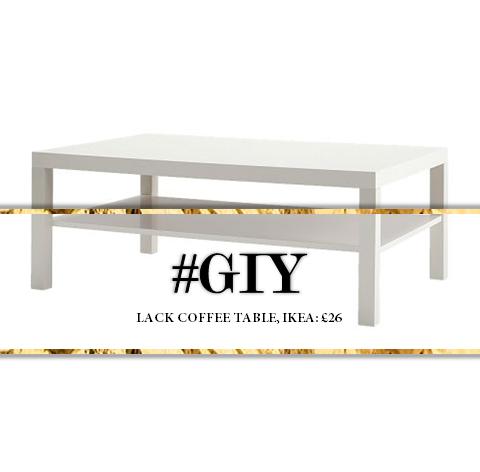 Giy Luxury Marble Gold Coffee Table Shakira Scott