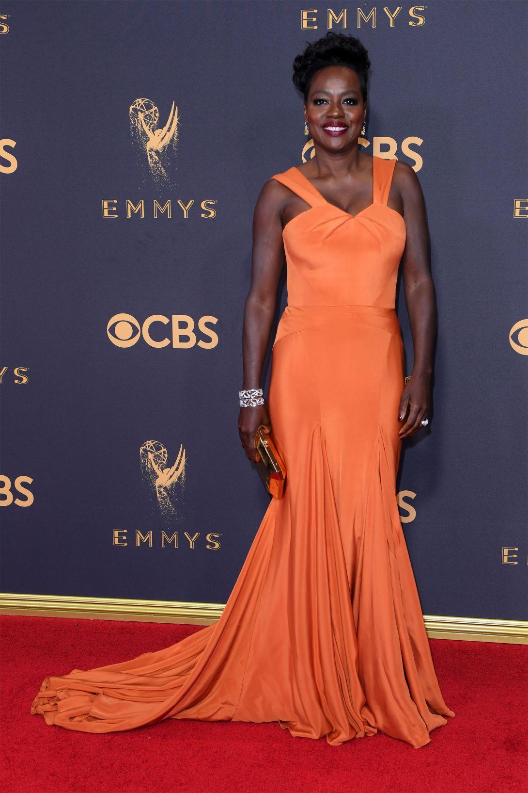 Viola Davis wearing Zac Posen