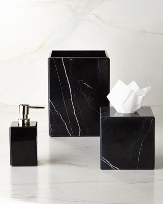 Black Marble Bathroom Accessories