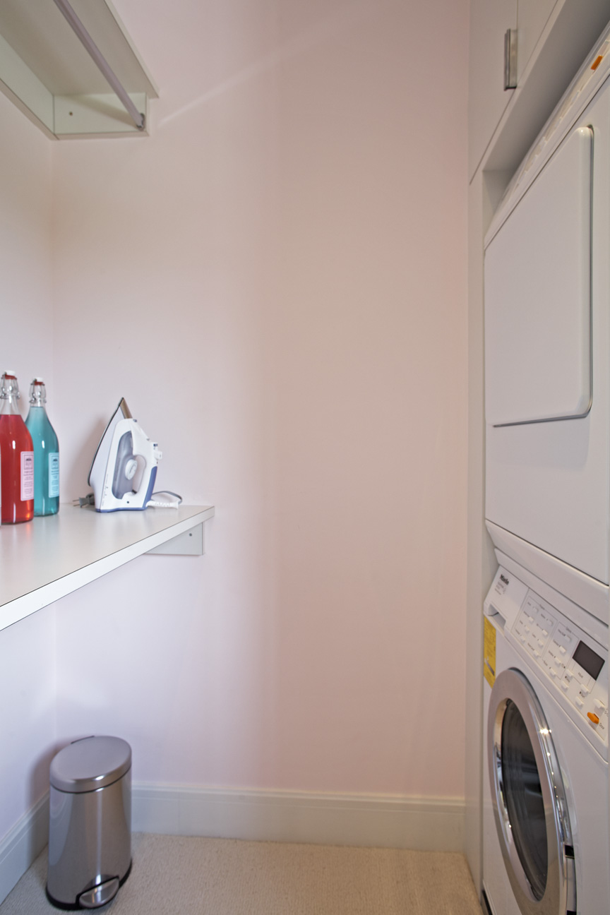 Washer/dryer  -- Washer/dryer hookups aren't typically installed in a dressing room, but for those designing a home or closet from the ground up, this can be a great way to keep the space streamlined and the flow of the home  clean.
