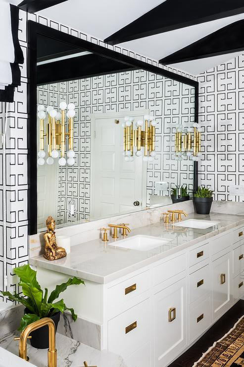 white-black-bathroom-noir-greek-key-wallpaper-brass-square-vanity-pulls.jpg