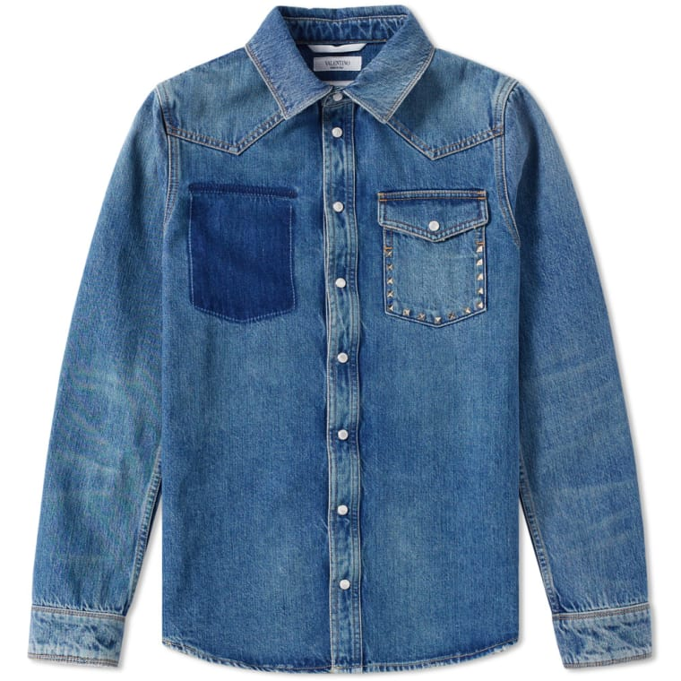 ROCKSTUD DENIM SHIRT - VALENTINO