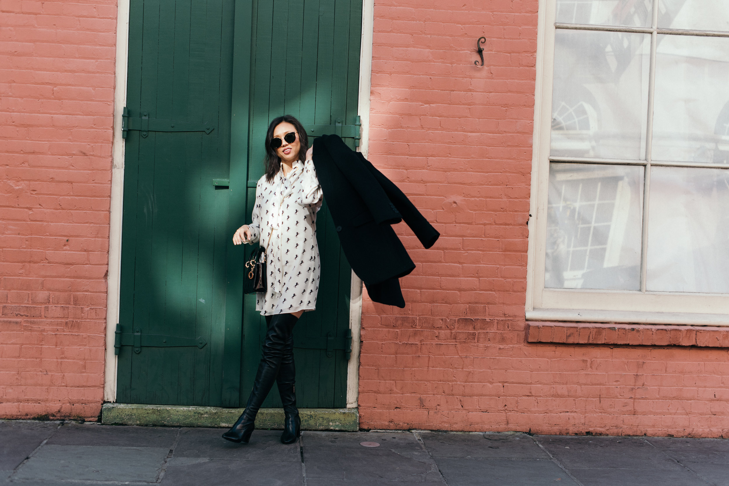 Coat: Stella mccartney, bag: dior, dress: chloe, boots: ysl (hair + make-up: @binacalinettehmu, Photographer: @augustasagnelli