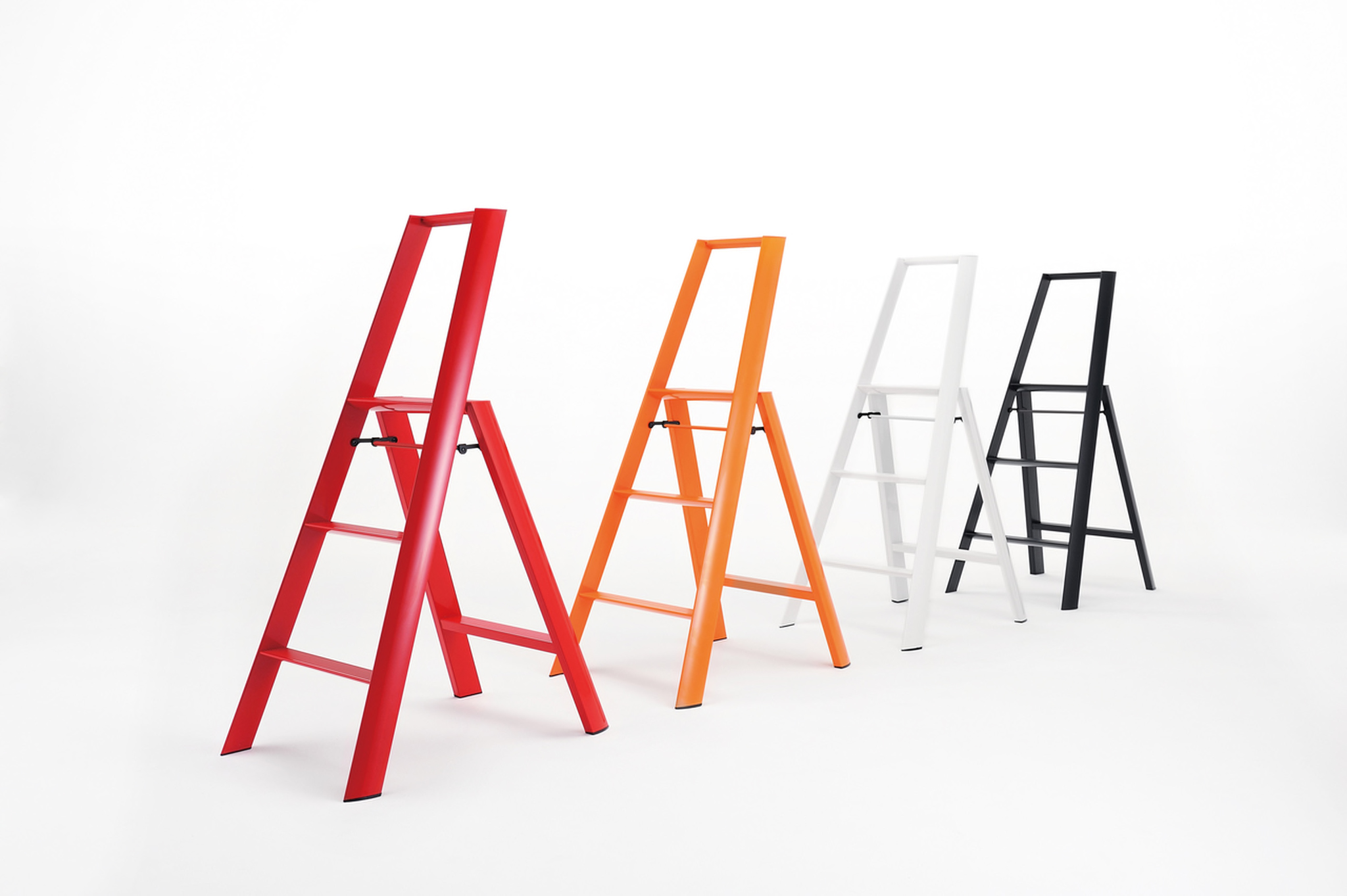 Lucano 3 Step Ladder    --  This sleek stool has won numerous awards and it's easy to see why with its Japanese design, contemporary aluminum craftsmanship and hidden fasteners.