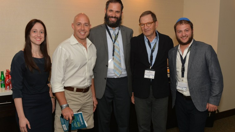 From left: Sarah Dworcan, executive director; Congressman Brian Mast; Rabbi Moshe Scheiner, founder; Larry Sosnow, chairman, and Rabbi Yosef Rice, youth director.