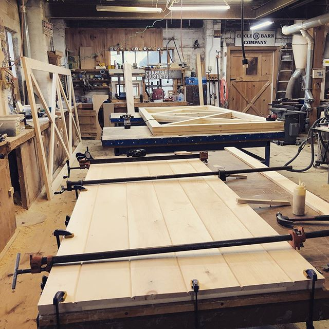 Building doors - lots of them. #handcrafted #barndoors #barndepot #wooddoors