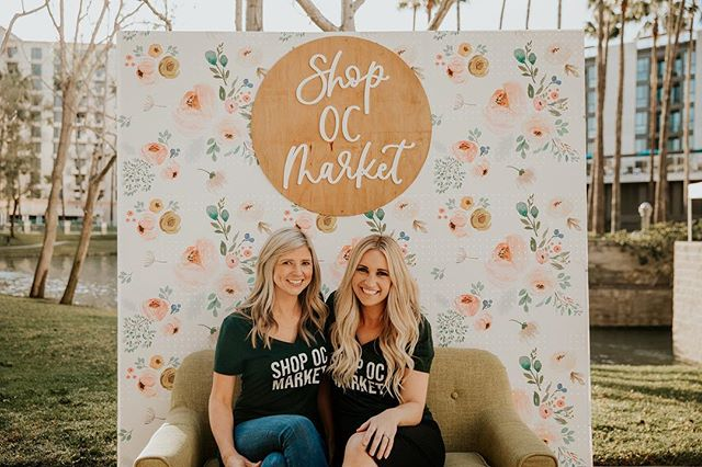 """Hello!👋🏼 We thought it was about time the mamas and founders of Shop OC Market introduced ourselves! We have been so blessed to meet so many of you amazing shoppers and vendors over the past couple of years, we thought it was time we told you a little bit of our story and shared behind the scenes of Shop OC.  We are Jessica and Kelsey👋🏼. We are moms to all BOYS...you'll typically see our little rascals around the markets eating donuts and """"helping"""" check people in at registration😜. We both live in Orange County and have lived here most our lives. Our husbands are also bff's and you'll see them in the green shirts at every market[along with the rest of our amazing GREEN TEAM!] working their booties off for us & helping put our ideas into motion. Seriously, we couldn't put these things on without those two and our families! Shop OC Market is truly our hobby. Our passion. We originated from owning a women and children's clothing brand where we used to attend markets as a vendor...we met so many amazing maker's and learned SO much from being a vendor, selling our product at markets that we thought...what if we put on our own Market? We launched the first Shop OC back in November 16' with a total of 32 vendors and not knowing what the heck we were doing🤣. But if there's one thing we can say about ourselves i's if we can't do it, or we don't know HOW to do it...we will figure it out or at least fake it til' we (semi) make it💁🏼♀️. We have learned and grown SO much since that first market...but what we have gained...the people we have met, worked with, and gotten to know is what we've really loved about putting on these events.  We wanted to create a market that brought together local makers in an experience that only the OC could provide...mimosa bars, donut walls, and an event that boasts luxury and beauty,  in one of the top OC hotels. We wanted a different mix of artisans with an intimate effect, giving vendors and shoppers a one-of-a-kind experience. Each market we tru"""