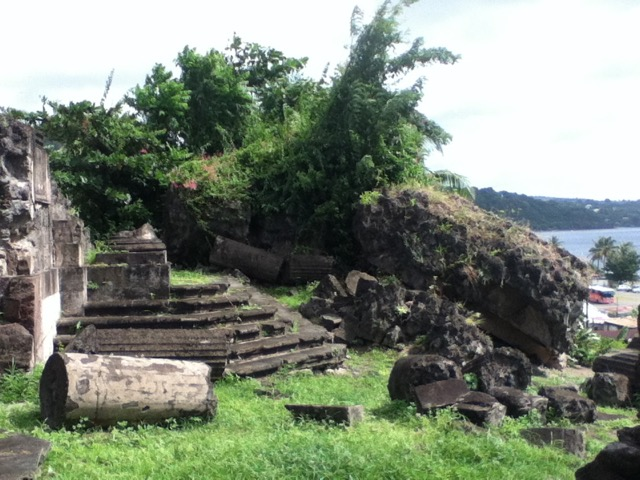 Pictured here are the ruins of the city of St. Pierre in Martinique, destroyed by a volcano in 1902. Photographic notes by one of our exhibiting artists, Jean-Ulrick Désert (2017).