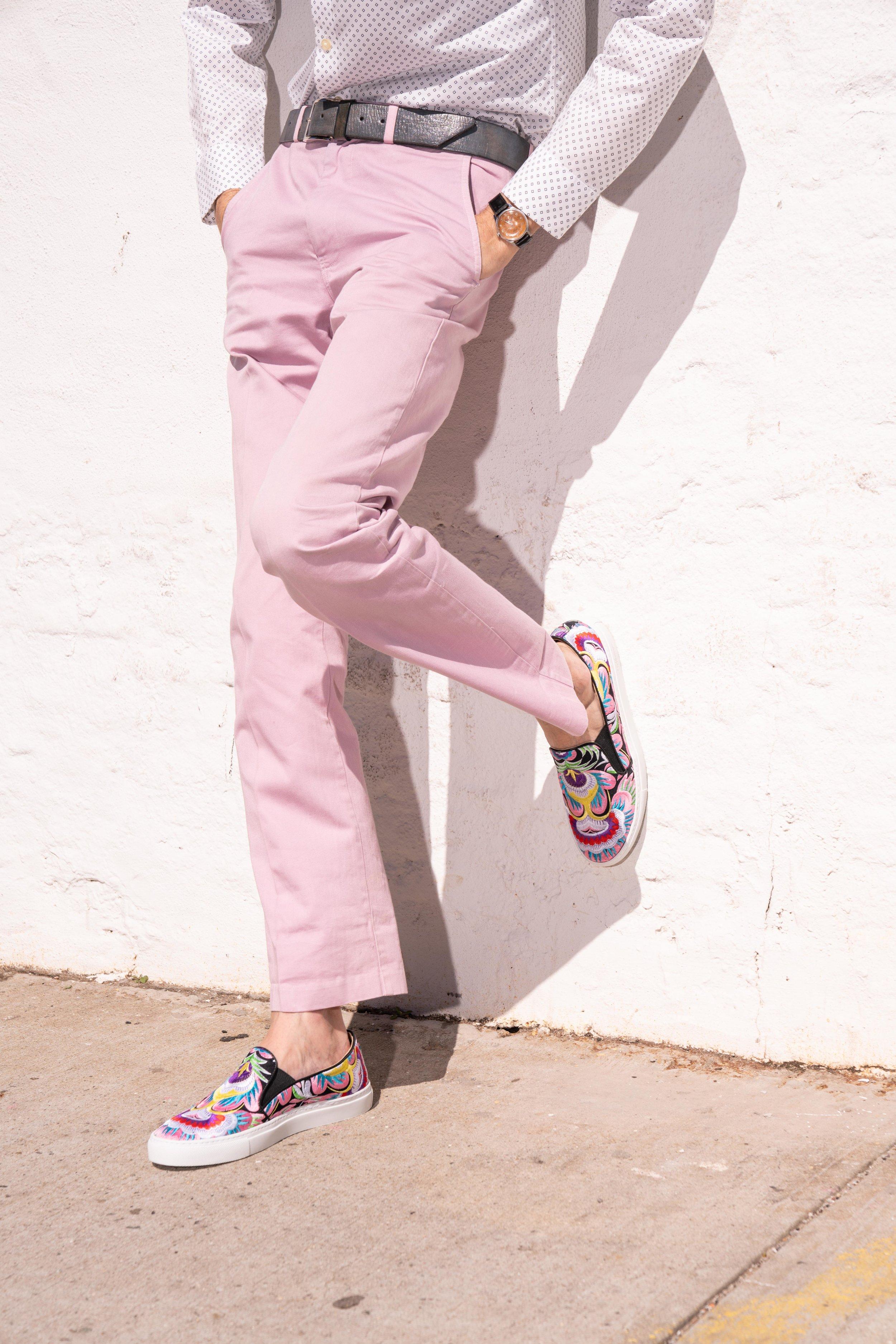 Pink embroidered smoking sneaker.jpg