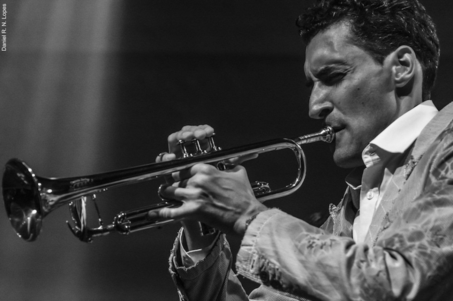 Playing trumpet on tour with Antibalas in Brazil.
