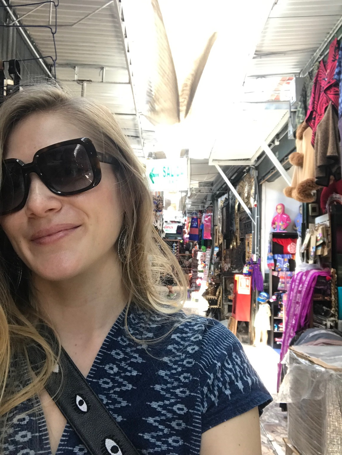 Just landed and Jess is already at the Indian Market in Miraflores.