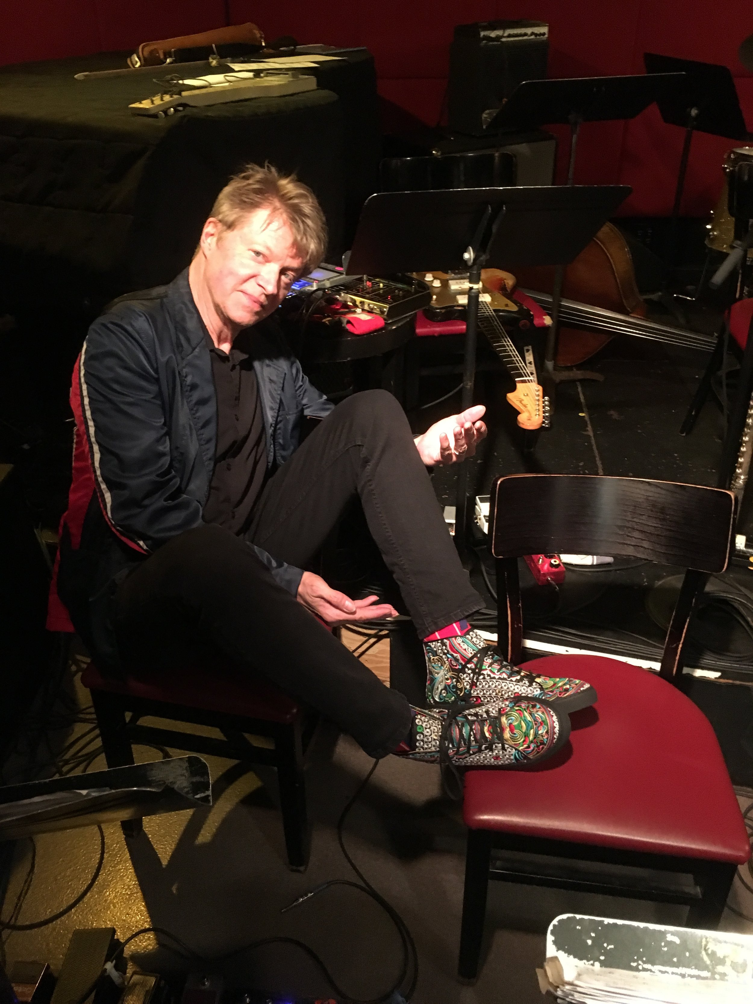 Nels at Jazz Standard in the Silver Cat high tops.