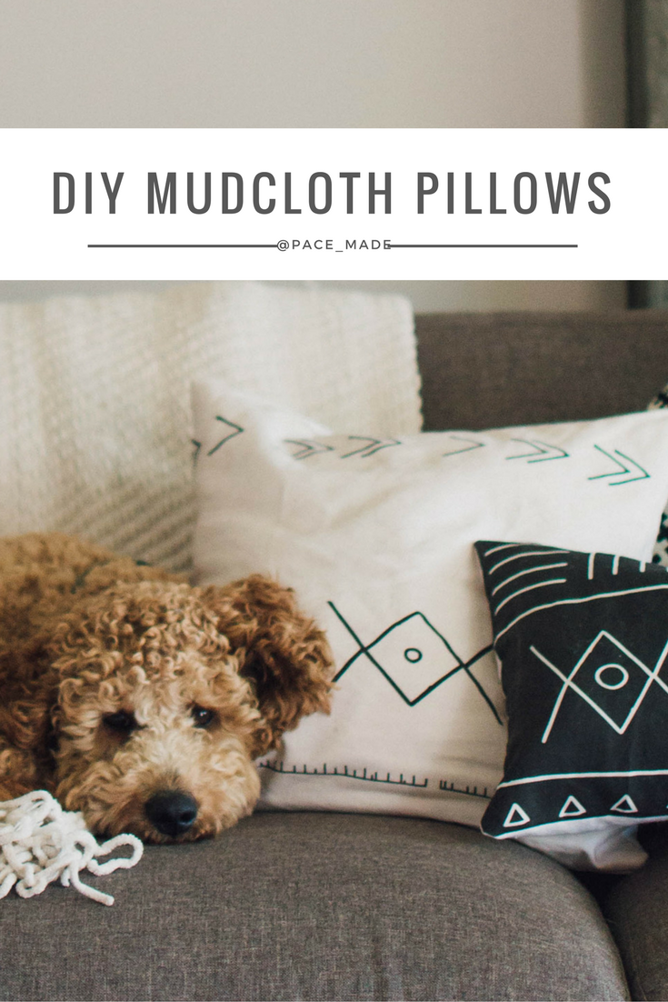 For $27 I was able to make SIX mud cloth pillow covers. One yard of linen cotton canvas ultra, so you get the soft texture of a throw pillow & then some sort of white heavy canvas for the back (mine was leftover from the tie I sewed).