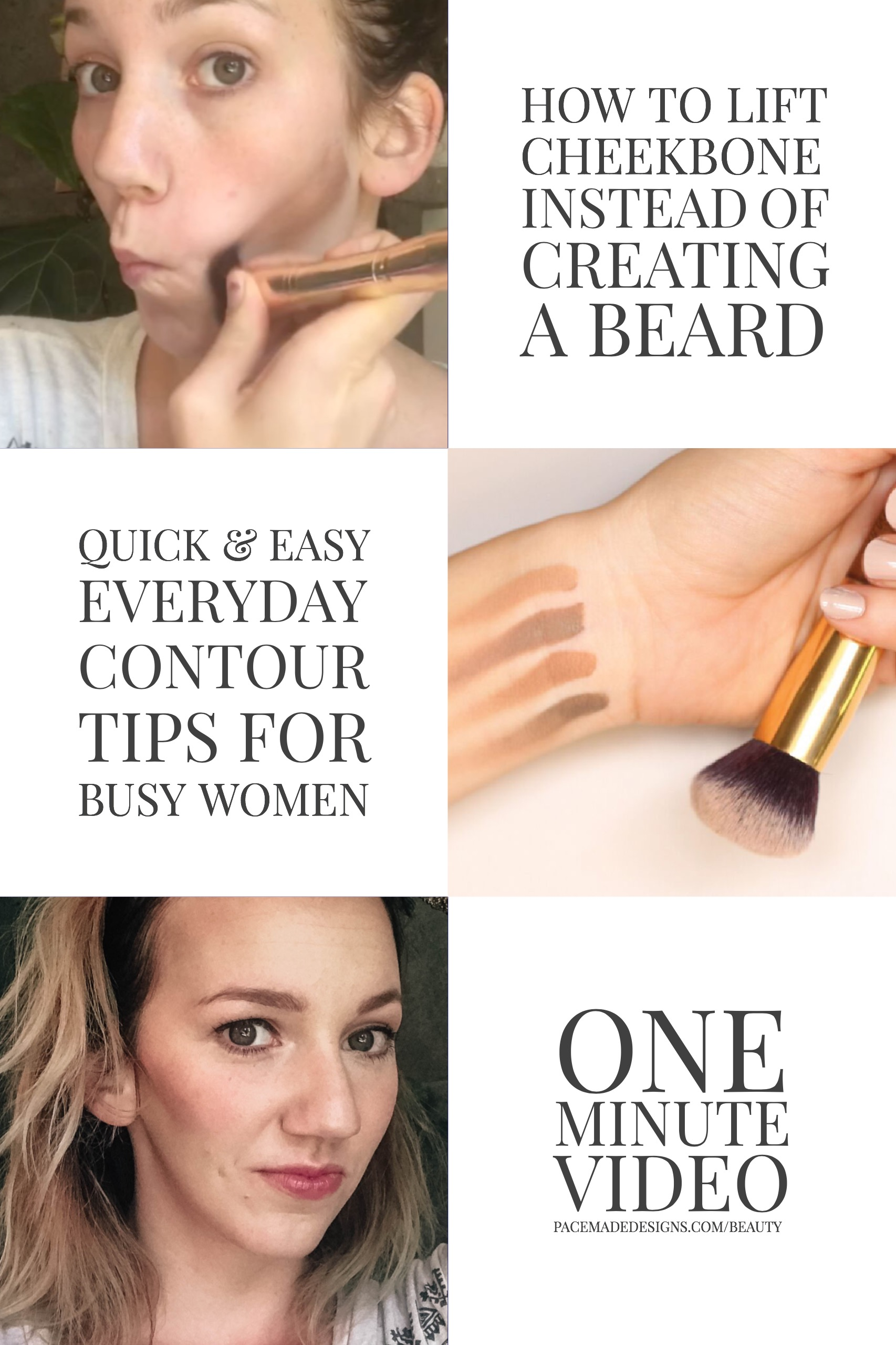 ou want to put the contour on the lower part of your cheekbone, the blush on the ball of the cheekbone, and the illuminator on the top of the cheekbone. Watch the video to understand the common mistakes and how to give that cheekbone a little lift.