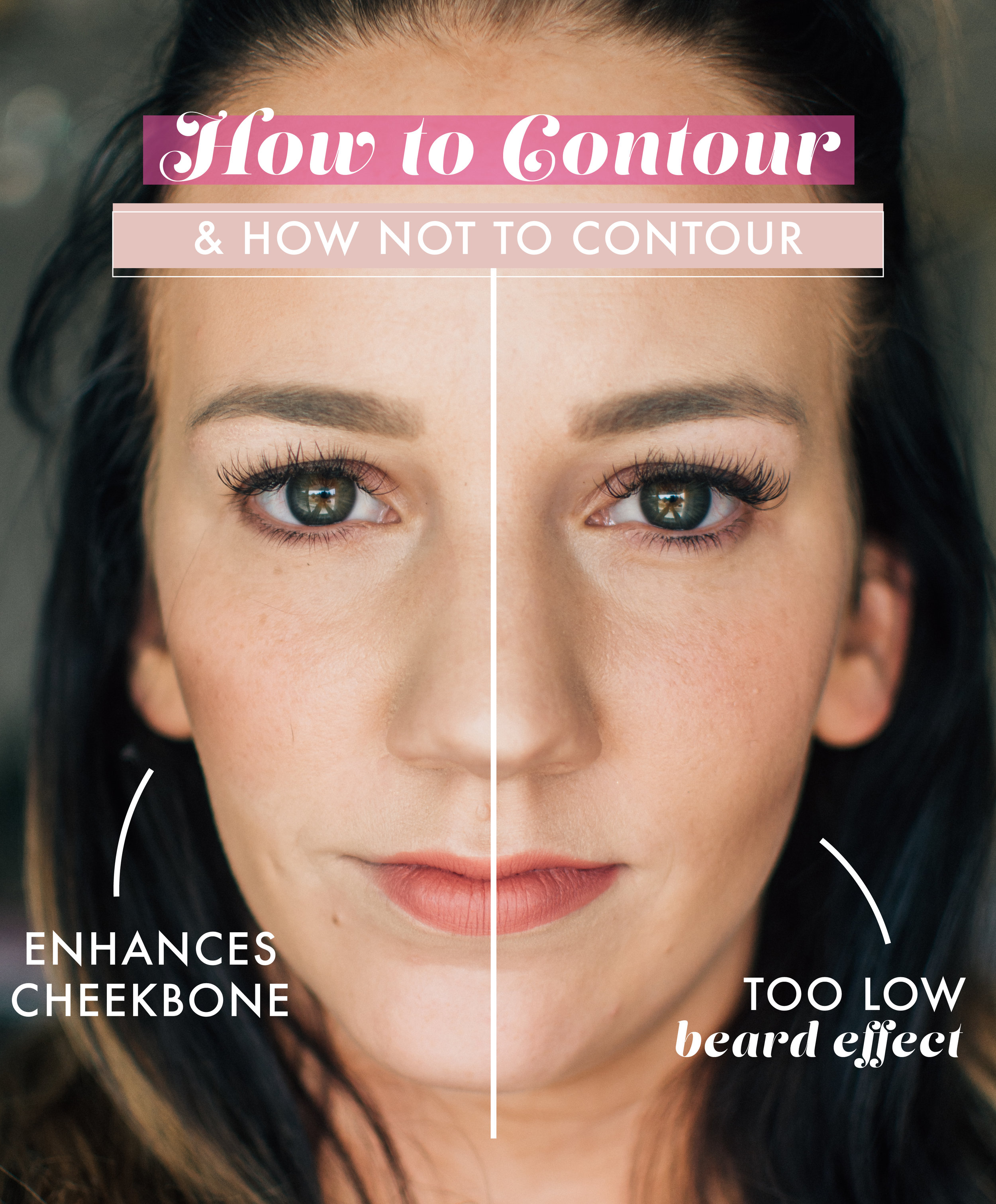 What is your favorite feature that you'd like to emphasize on your face? Contour enhances the structure of your already beautiful face and brings attention to the areas you want to show off. Contour is a matte color a few shades darker than your skin tone (send me a color match and I'll get you set up with a contour for your skin tone), that looks like a natural shadow on your face. When you contour, take a brush and stipple the color under your cheekbone, around your forehead, under your jaw line and down the center of your nose. Stipple it on & Blend.