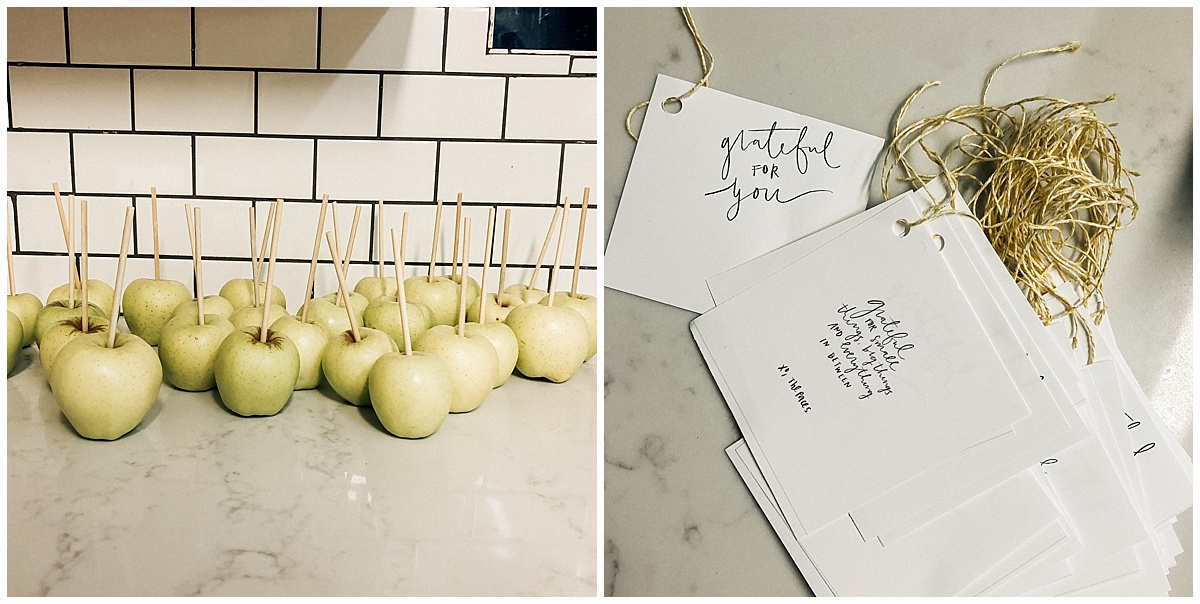 There's definitely no rule on how you use your talents to serve… or how you try to make new talents… in my case. I got the lettering thing down. But honestly, I'm not so good in the kitchen.   So, I can sit here and complain about it… or I can attempt to change that. I was pretty blessed the my caramel apples tasted delicious. They aren't perfect, but it allowed me to develop a new talent, share that talent and put time, effort, money, blood, sweat and tears into a project to bless the lives of others spontaneously.   Sometimes we serve in little ways. And sometimes we put a little bit more effort into it, and it just feels good!  I have a freebie for you! Go print out your grateful notes. It says  Grateful for small things, big things and everything in between.