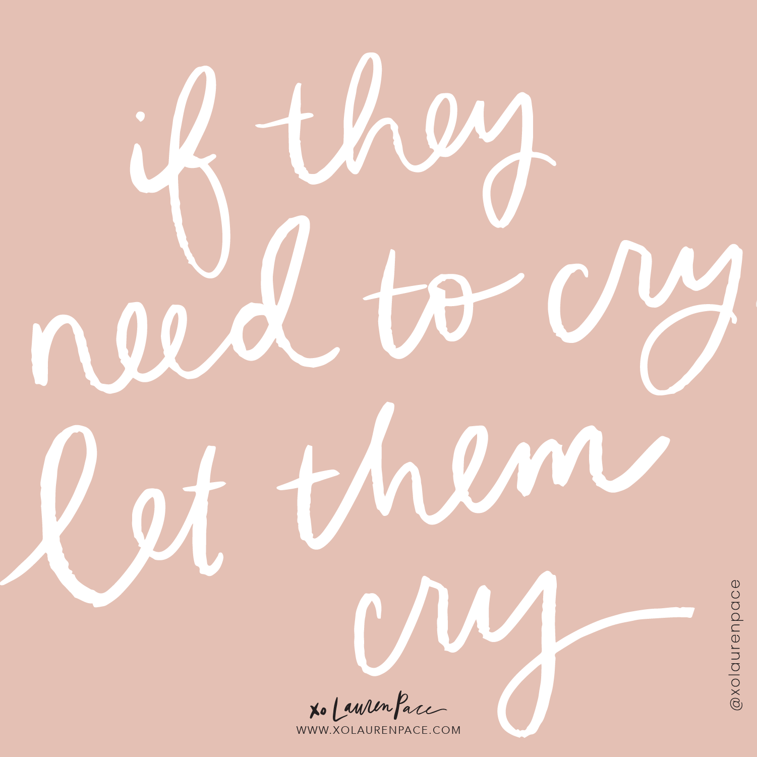 Crying stimulates endorphins, our feel-good hormone. And also, bottled up emotions turn into tantrums.  . A few tears here and there all day long... or a VOLCANIC eruption at the dinner table. Your choice.  A lot of times it's our go-to reaction to say, don't cry, you don't need to cry, you're fine, stop crying... instead, try, it's okay to cry. Let it all out. You can take a break and cry when you're ready you can come back and join us.