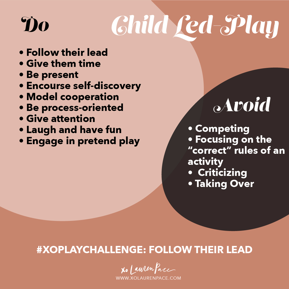 Child-led play is extremely beneficial. It is the way for them to discover what they love, who they are and make sense of the world around them. Our role in child-led play is to FOLLOW THEIR LEAD. We can also support them when needed, keep them safe, engage in their play.