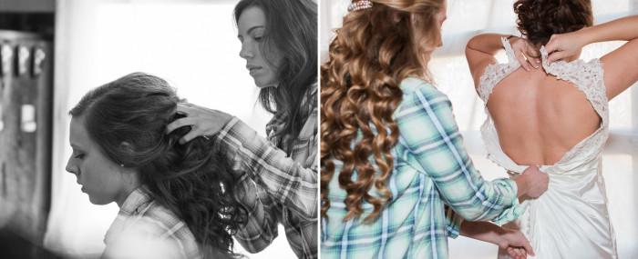 hair and dress