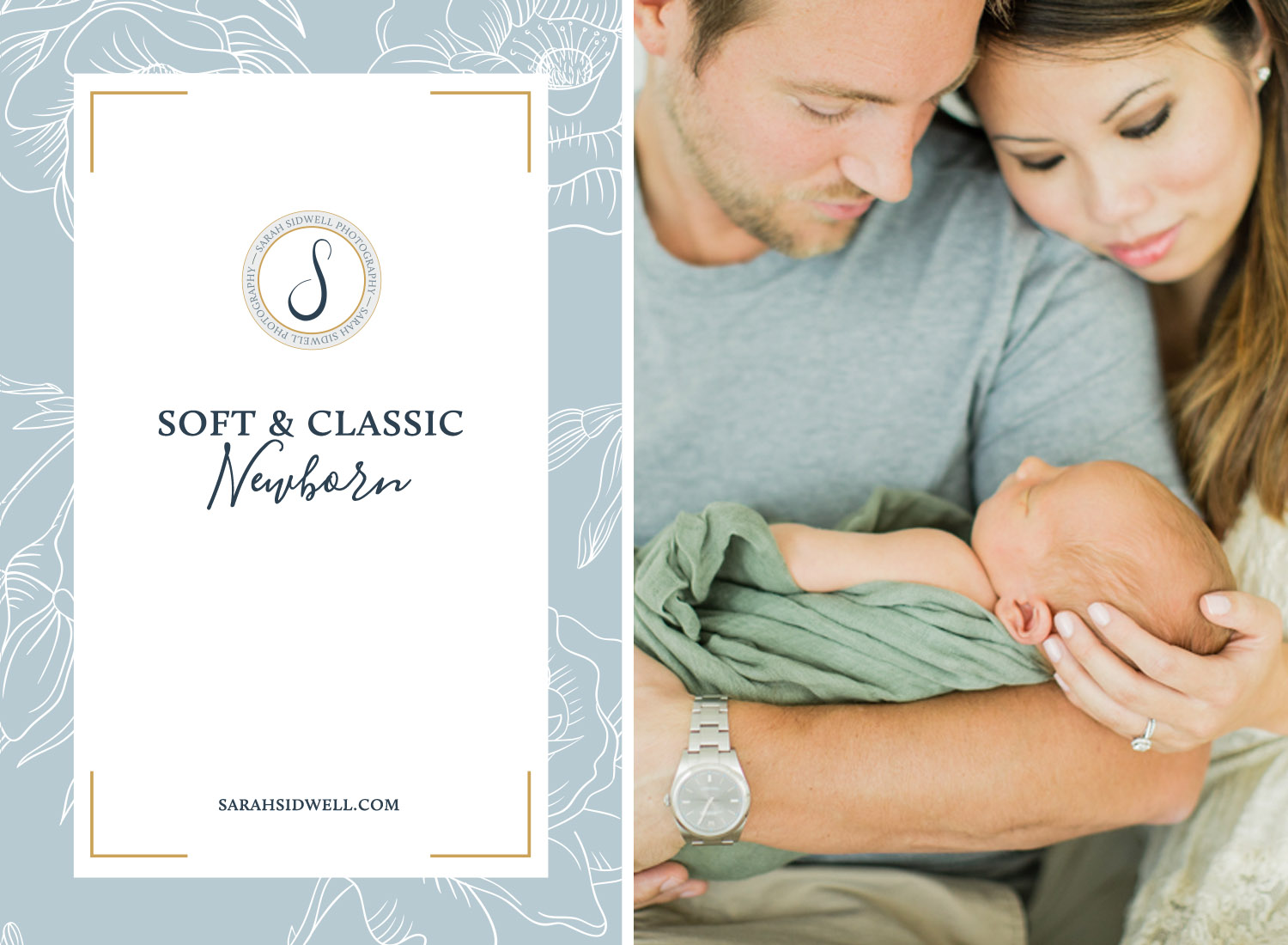 New nashville parents plan their first son's newborn baby photos to be taken by Franklin Tennesee portrait photographer at Sarah Sidwell Photography's newborn studio resulting in classic bright and natural family pho.jpg