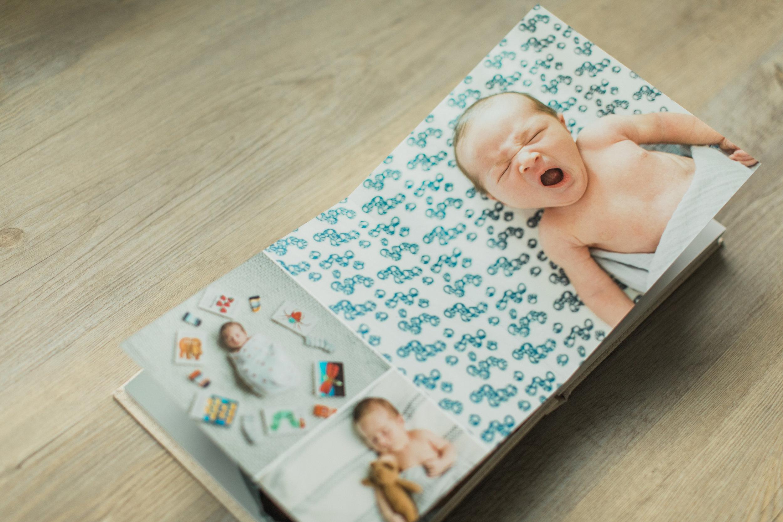 Baby photo album.