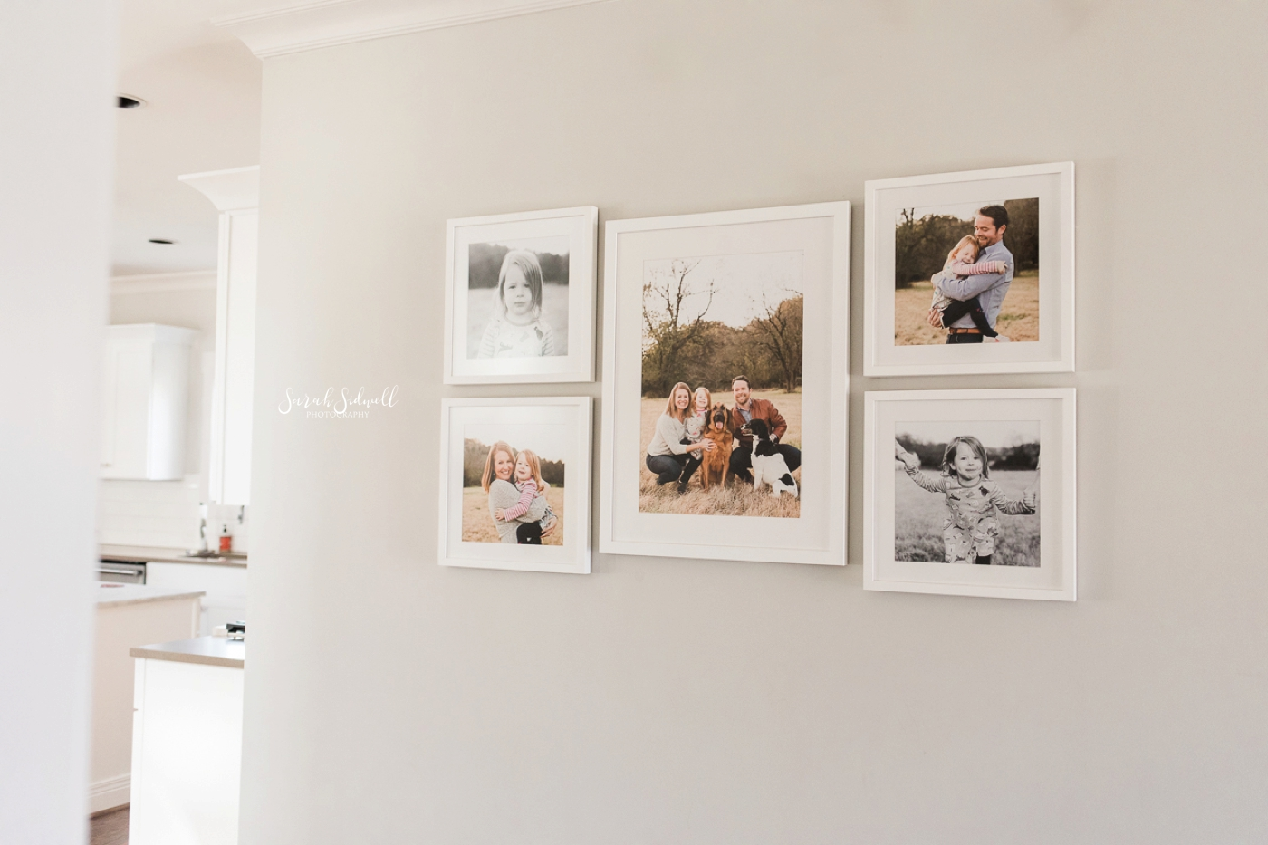 Gallery Wall Install | Sarah Sidwell Photography