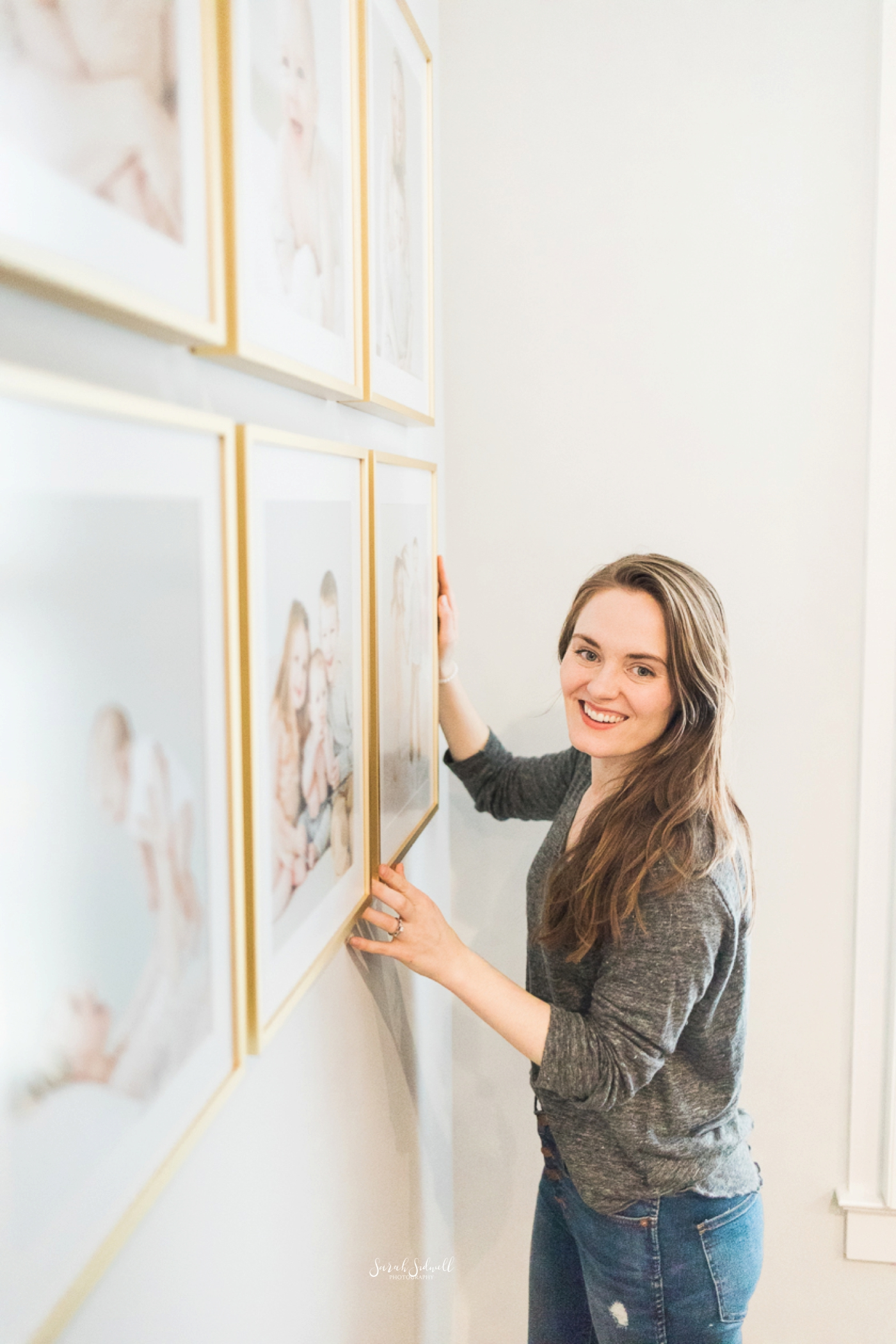Family Photo Gallery Wall | Use photos as stylish home decor