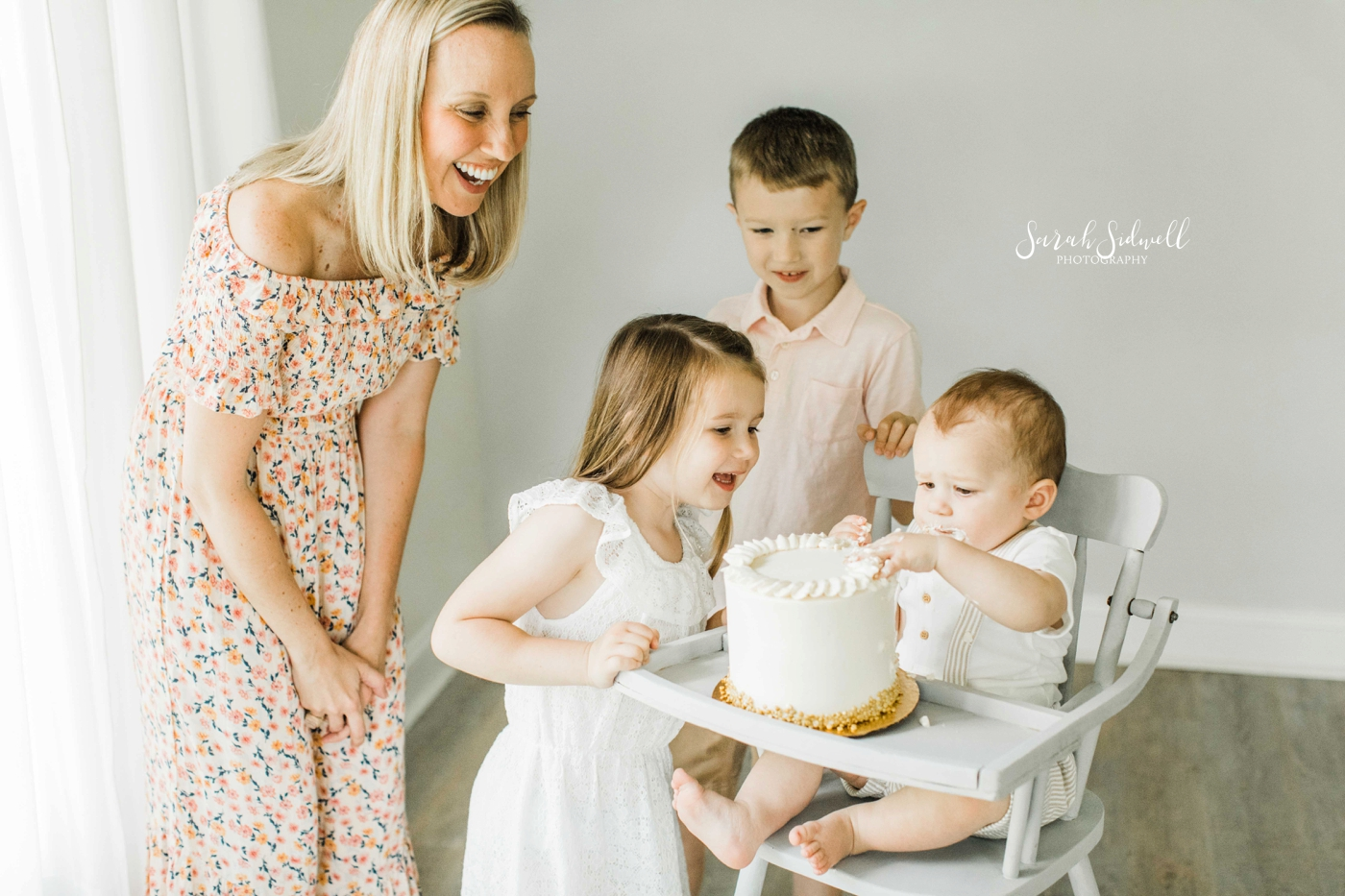 One Year Old Milestone Session | Brady's Smash Cake