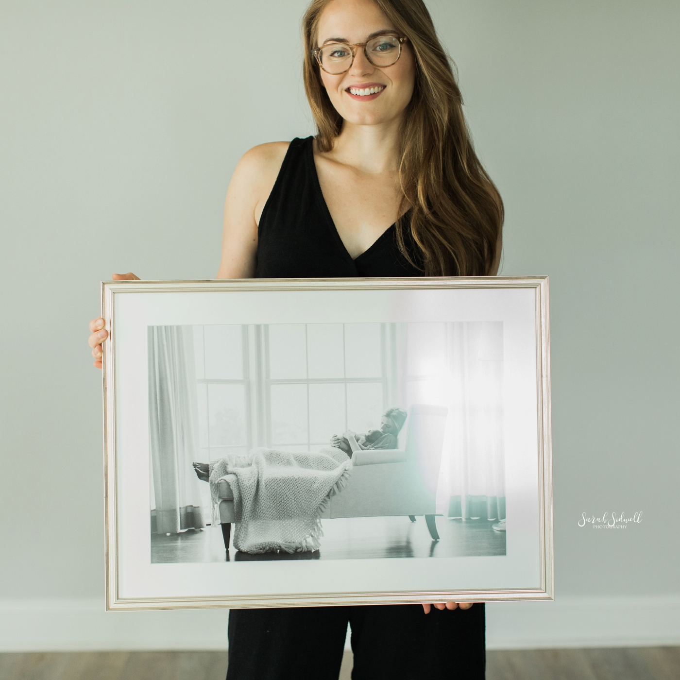 Framed Newborn Photos | Baby Evelyn